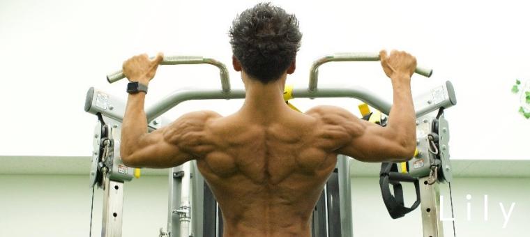 小野瀬さんの背中の筋肉